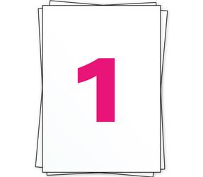 Afbeelding van Étiquette autocollante A4, 1 par planche, blanc, permanent, 210mm x