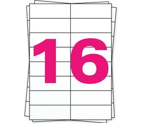 Afbeelding van Étiquette autocollante A4, 16 par planche, blanc, permanent, 105mm x