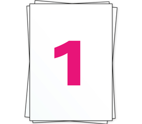 Afbeelding van A4 étiquettes autocollantes, 1 par planche, blanc, 210mm x 296mm