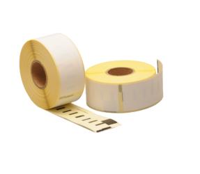 Afbeelding van 99010 Dymo étiquettes compatibles, 89mm x 28mm, 130 étiquettes blanches, permanentes