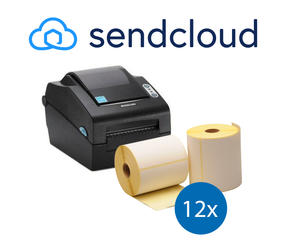 Lot d'initiation SendCloud : Bixolon imprimante SLP-DX420EG ethernet + 12 rouleaux d'étiquettes compatibles 102mm x 150mm