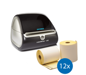 Lot d'initiation : Dymo LabelWriter 4XL + 12 rouleaux d'étiquettes compatibles Dymo S0904980
