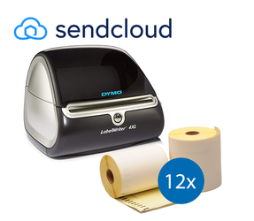 Lot d'initiation SendCloud: Dymo LW 4XL + 12 rouleaux d'étiquettes compatibles Dymo S0904980