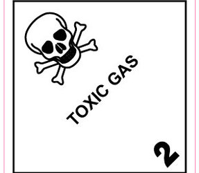 Étiquettes IMO 2.3 Toxic gas, 100mm x 100mm, 1000 étiquettes