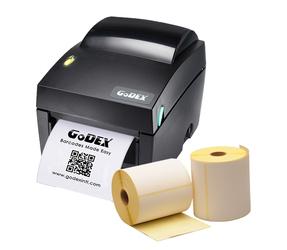 Afbeelding van Godex imprimante DT4x ethernet + 12 rouleaux d'étiquettes Zebra
