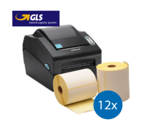 Lot d'initiation GLS: Bixolon imprimante SLP-DX420EG ethernet + 12 rouleaux d'étiquettes compatibles