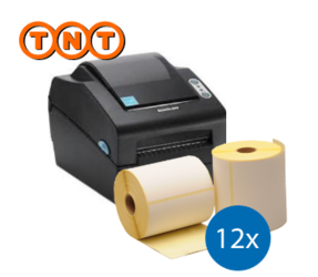 Lot d'initiation TNT : Bixolon imprimante SLP-DX420EG ethernet + 12 roulea d'étiquettes compatibles 102mm x 150mm